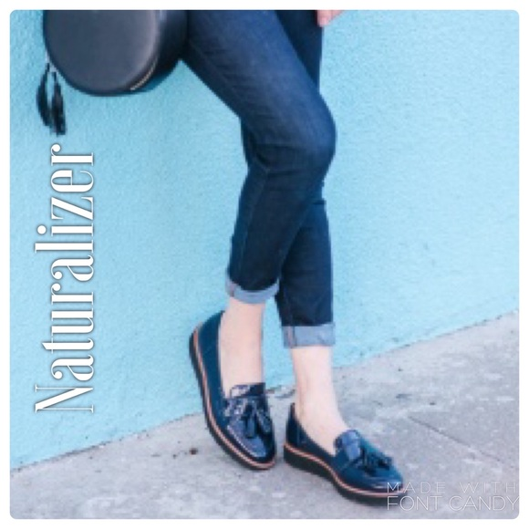 Naturalizer Navy Blue Adiline Loafers